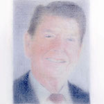 Reagan (#2), 2000 Colored pencil on paper, 19 3/4 x 12 5/8 inches