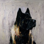 Leo, 1995 Oil on canvas, 26 x 26 inches