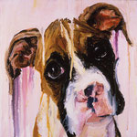 Gizmo, 1997 Oil on canvas, 13 x 13 inches