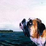 Jake (III), 1995 Oil on canvas, 26 x 26 inches