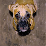 Marley, 1996 Oil on canvas, 26 x 26 inches