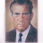 Nixon (color), 2000 Colored pencil on paper, 19 3/4 x 12 5/8 inches