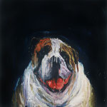 Tuck, 1995 Oil on canvas, 26 x 26 inches
