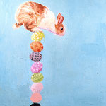 Balancing Bunny, 2004 Oil on canvas, 30 x 24 inches