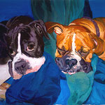 Lucy + Bruno, 2008 Oil on canvas, 23 x 26 inches