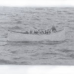 Lifeboat (#2), 2000 Graphite on paper, 12 5/8 x 19 3/4inches
