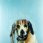 Sally, 1993 Oil on canvas, 26 x 26 inches