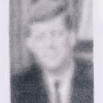 Kennedy (#4), 2000 Graphite on paper, 19 3/4 x 12 5/8 inches