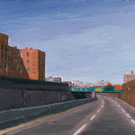 BQE Eastbound, 2000 Oil on canvas, 16 x 20 inches
