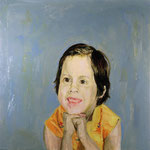 Leslie, 1995 Oil on canvas, 26 x 26 inches