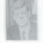 Kennedy (#3), 2000 Graphite on paper, 19 3/4 x 12 5/8 inches