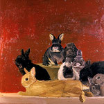 Nine Rabbits, 2004 Oil on canvas, 30 x 26 inches