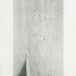 Reagan (tall), 2000 Graphite on paper, 93 5/8 x 24 inches
