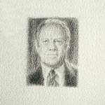 Ford (tiny), 2000 Graphite on paper, 6 3/8 x 5 inches