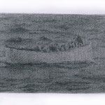 Lifeboat (#4), 2000 Graphite on paper, 12 5/8 x 19 3/4inches