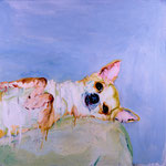 Katie, 1997 Oil on canvas, 26 x 26 inches