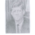 Kennedy (#2), 2000 Graphite on paper, 19 3/4 x 12 5/8 inches