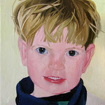Jackson (3 yrs), 2002 Oil on canvas, 20 x 16 inches