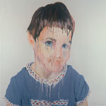 Andrea, 1998 Oil on canvas, 26 x 26 inches