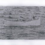 Lifeboat (#3), 2000 Graphite on paper, 12 5/8 x 19 3/4inches