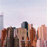 Skyline from LIC, 1999 Oil on canvas, 20 x 16 inches