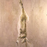 Dead Bunny, 2003 Oil on canvas, 28 x 24 inches