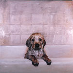 Tucker, 1996 Oil on canvas, 40 x 40 inches
