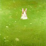 Rabbit in Queen Anne's Lace, 2003 Oil on canvas, 26 x 24 inches