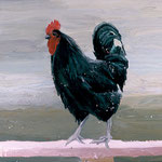 Chicken, 2002 Oil on canvas, 16 x 20 inches