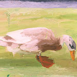 Duck, 2002 Oil on canvas, 16 x 20 inches