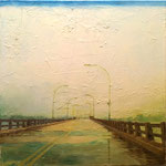 Navesink Bridge, 2014 Oil on canvas, 18 x 18 inches