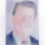 Reagan (#2), 2000 Colored pencil on paper, 19 3/4 x 12 5/8 inches