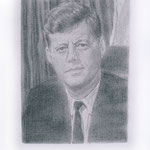 Kennedy (#1), 2000 Graphite on paper, 19 3/4 x 12 5/8 inches