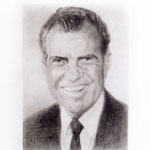 Nixon (smiling), 2000 Graphite on paper, 19 3/4 x 12 5/8 inches