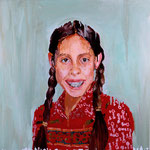 Leslie (II), 1997 Oil on canvas, 26 x 26 inches