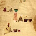 Petite scene du Mali  24x16 cm