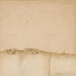 Les terres du couchant  70x70 cm