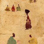 Petite scene du Mali  18x24 cm