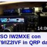 QSO con IT9/IZ2IVF Frenk in Catania con FT-817 5W da Albergo
