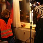 Vorbereitungen zum Nachtdreh auf der Straße