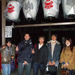 少人数制特訓授業の後、一部の受験生は神社へ参詣へ行きました。