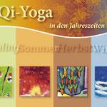 Eine Werbekarte Yoga und Qigong