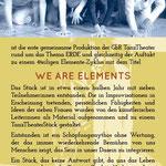 FrauenTanzTheater Flyer Vorderseite