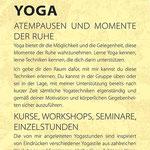 Yogakurse Flyer Vorderseite