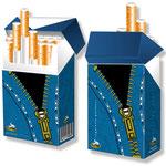 Pullover für Zigarettenschachteln > huellsy 012 > Jeans-Reißverschluss