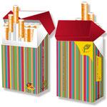 Hülle für Zigarettenschachteln > indo slipp 002 > Streifen