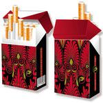 Schickes Ornament-Motiv für Zigarettenschachteln > indo slipp 035 > Ornament