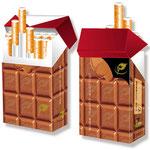 Kalorienarme Zigarettenschachtelhülle > indo slipp 003 > Schokolade