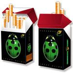 Zigarettenschachtel-Cover > indo slipp 036 > Marienkäfer grün