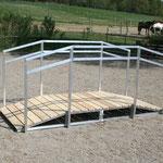 Alu- Geländer für den Dauereinsatz im Freien sehr gut geeignet.